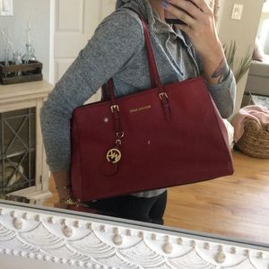 Gorgeous Red Michael Kors Large Tote